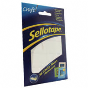 Sellotape Sticky Fixers 12 x 25mm Permanent Pack of 56
